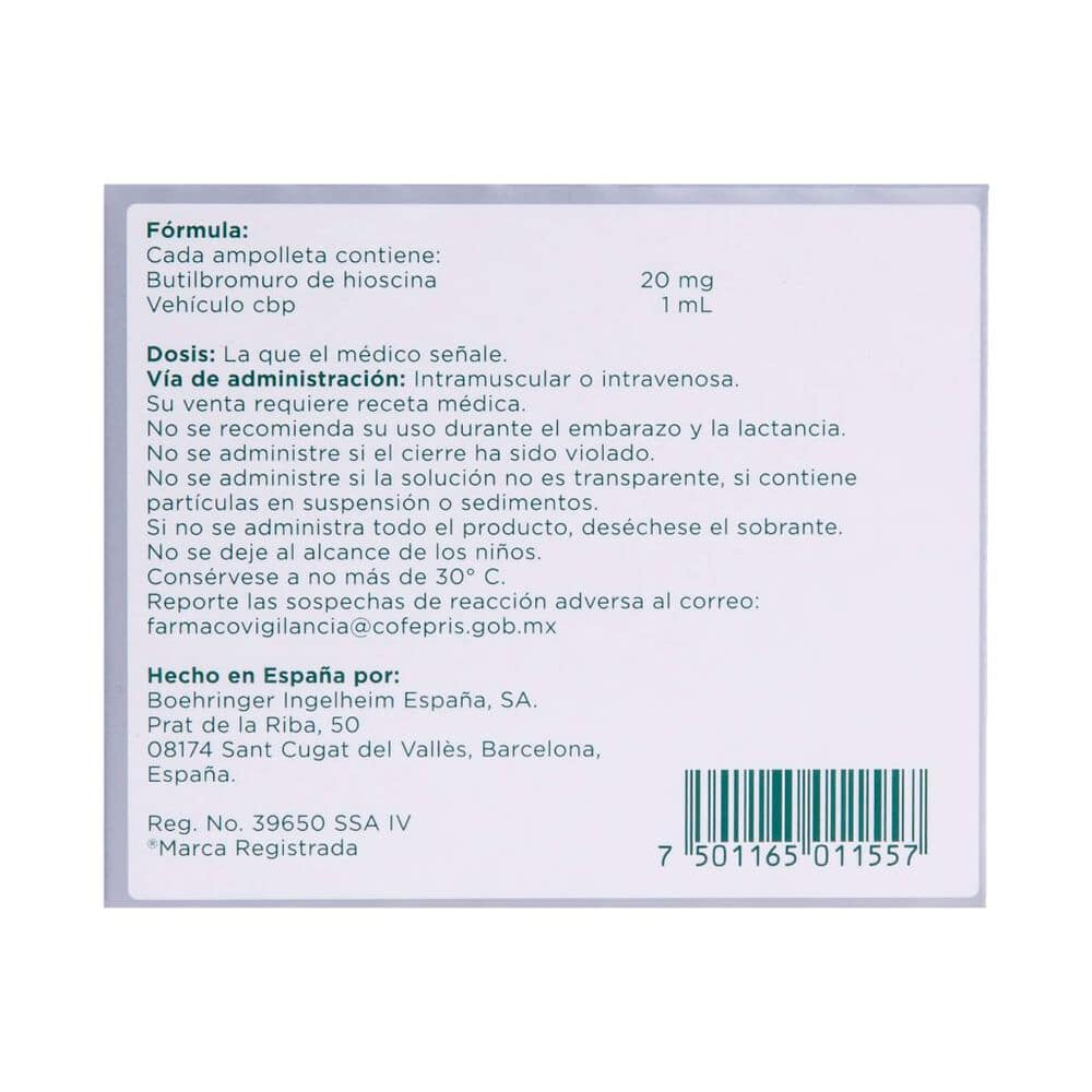 Buscapina 20mg Sol Iny con 3pzas image number 2