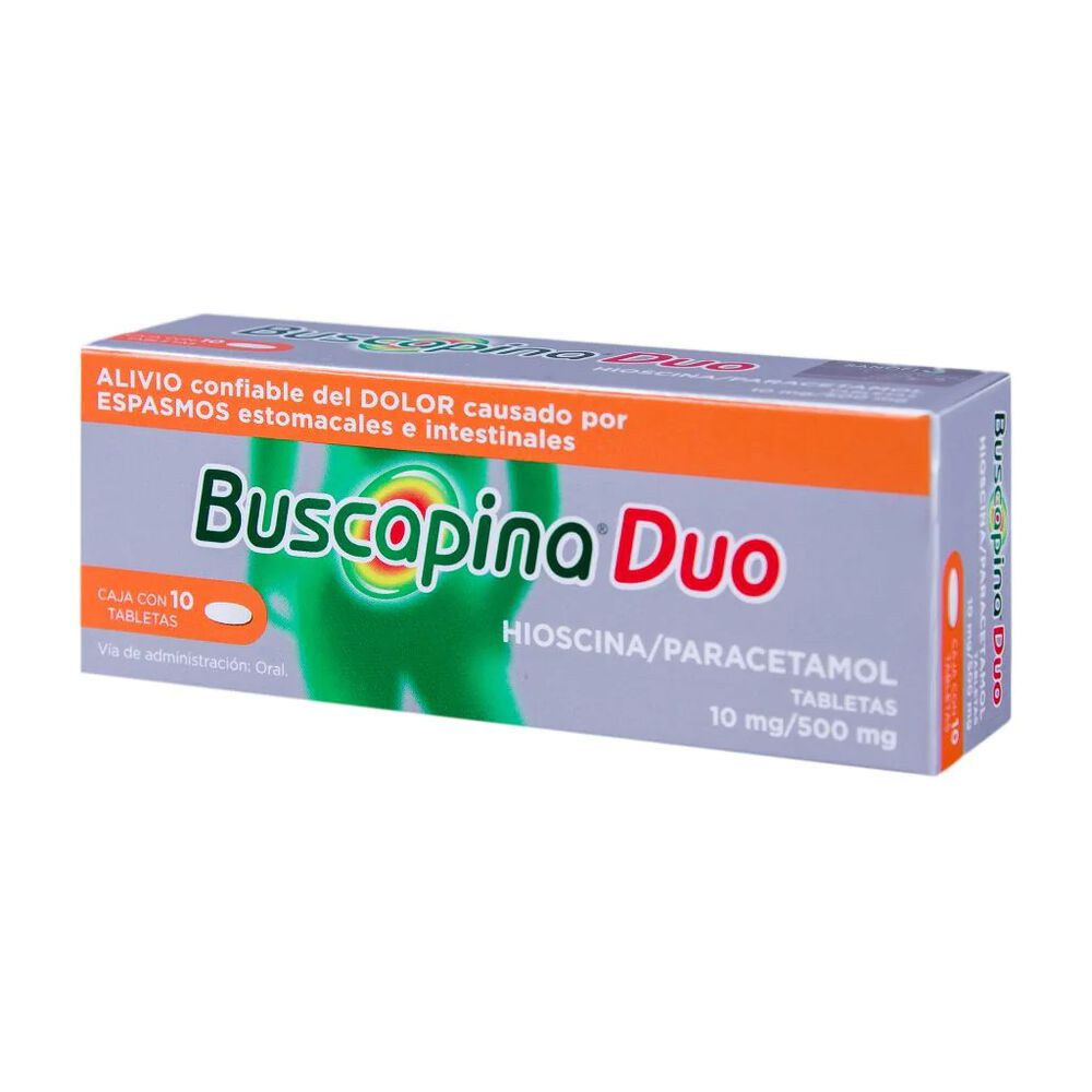 Buscapina Duo 10/500 mg Tab con 10 Pzas image number 2