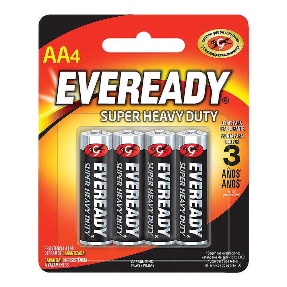 Pila Eveready Super HD AA Blister con 4 pz image number 0