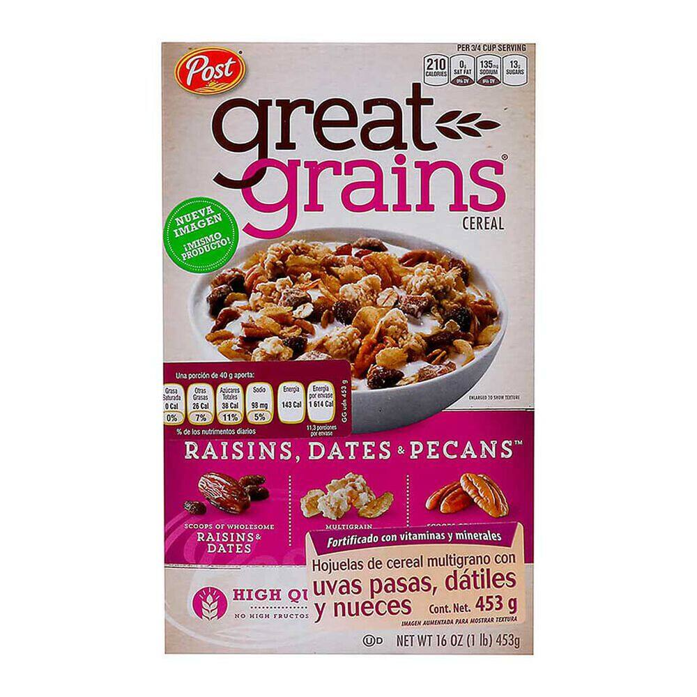 Cereal Great Grains Post Pasas Cj 453gr image number 0