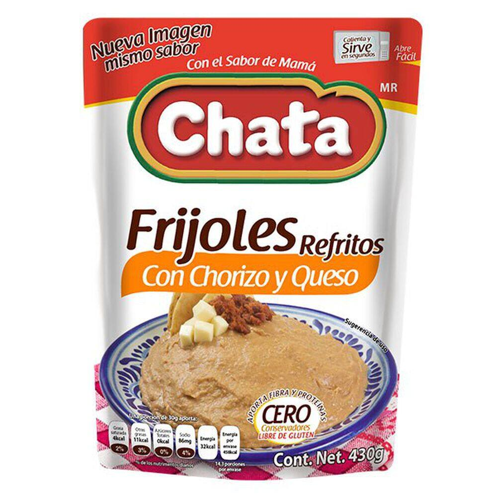 Frijoles Chata Con Chorizo Y Queso 430 Gr image number 0