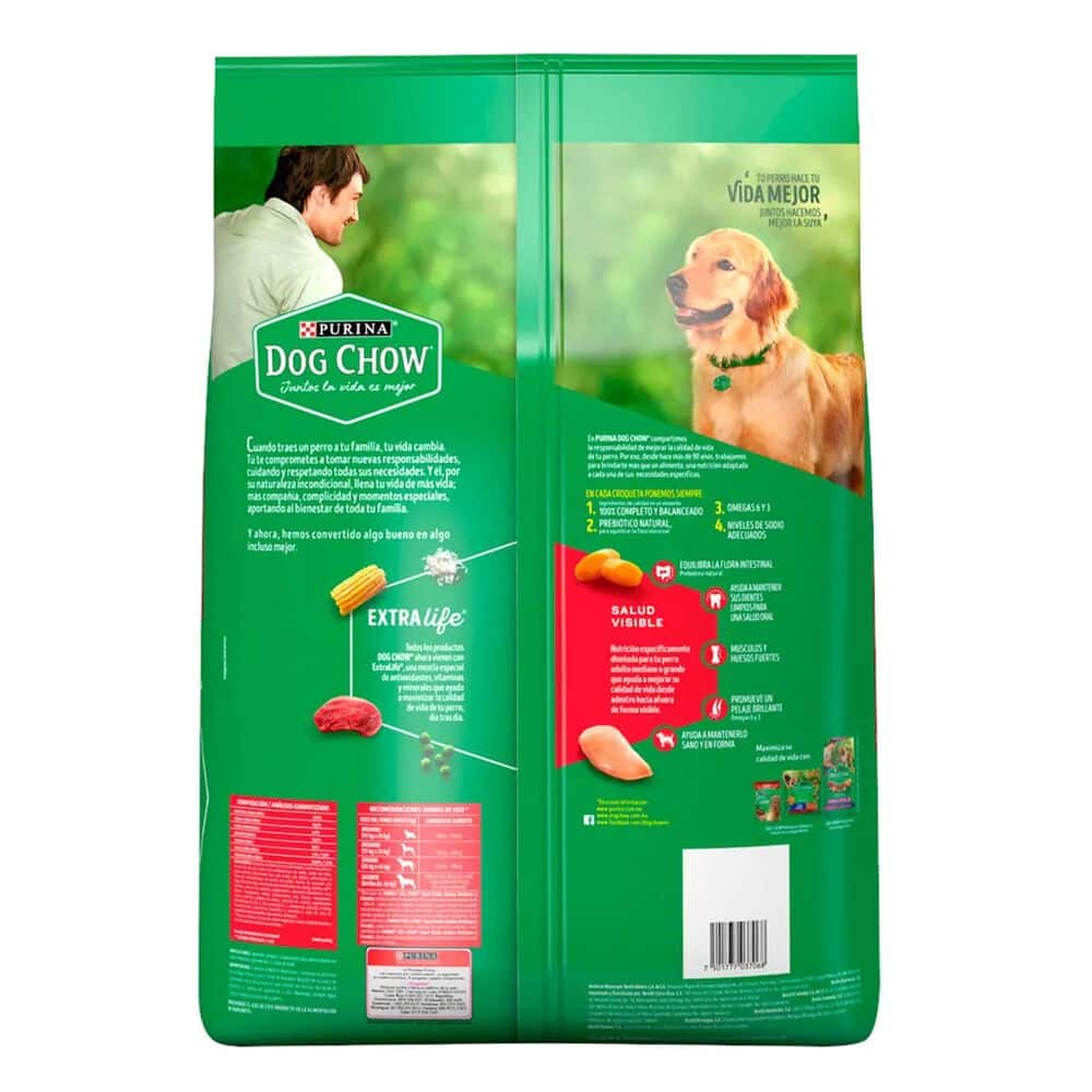 Alimento para Perro Dog Chow Salud Visible Extralife Adultos 7.5 Kg image number 7
