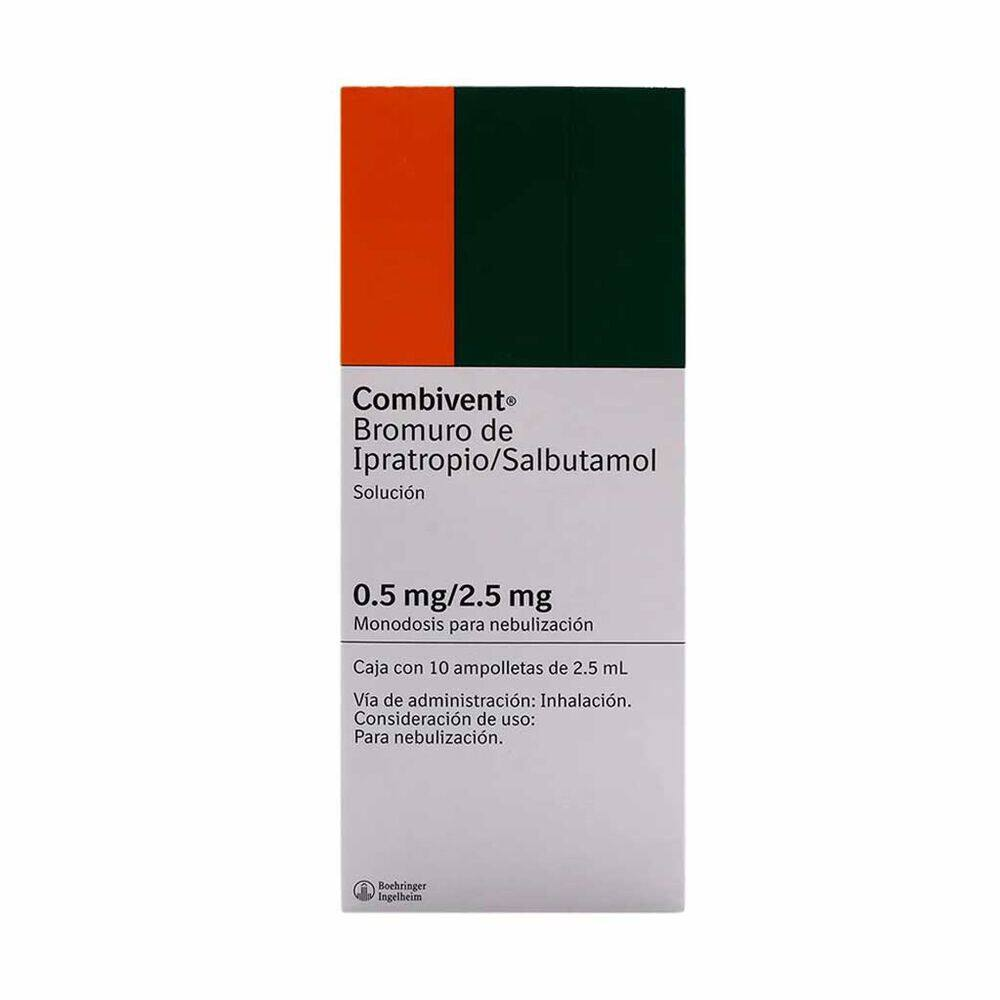 Combivent 2.5/0.5mg Solneb 10 Pzas image number 0