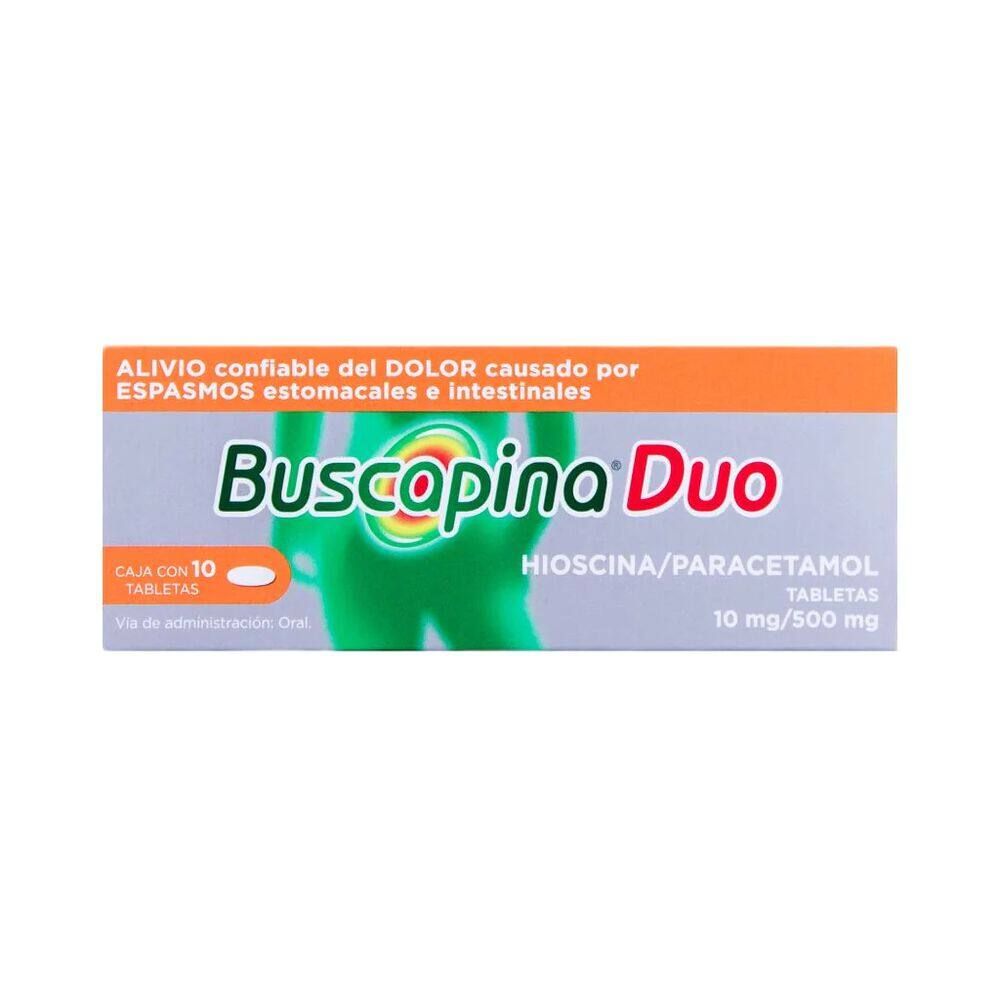 Buscapina Duo 10/500 mg Tab con 10 Pzas image number 0