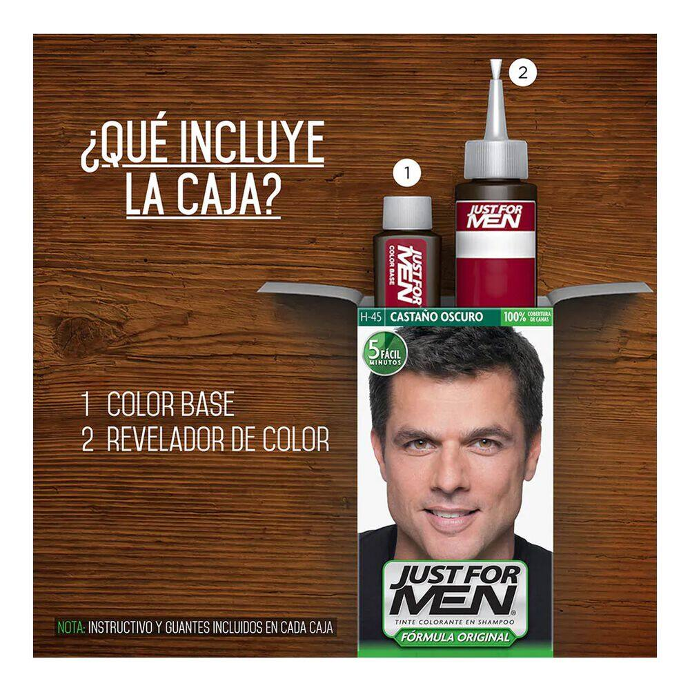 Tinte Just For Men H-45 Castaño Oscuro image number 5
