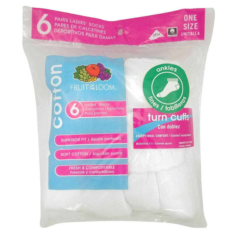 TIN FRUIT OF THE LOOM PAQ 6 image number 0