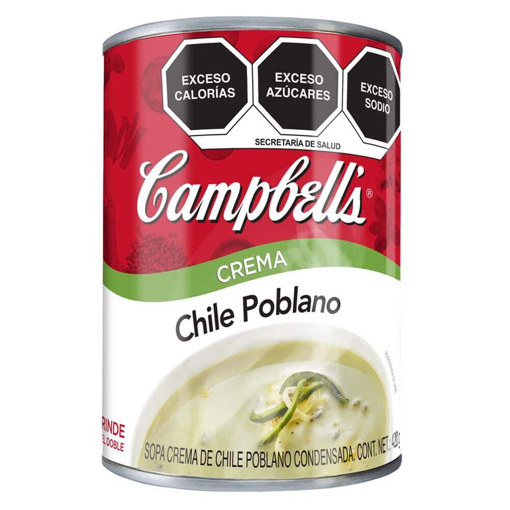 Crema Chile Poblano Campbell´S 420 Gr image number 0