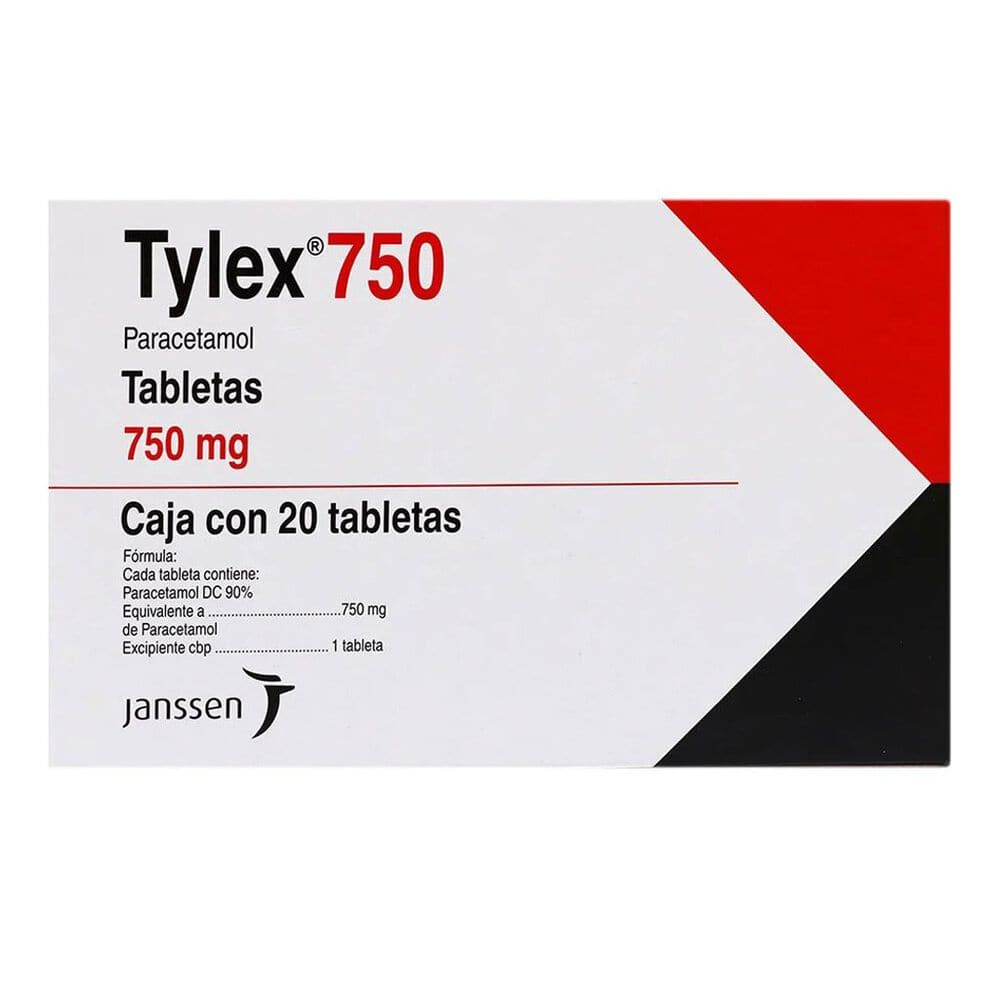 Tylex 750mg Tab 20 image number 0
