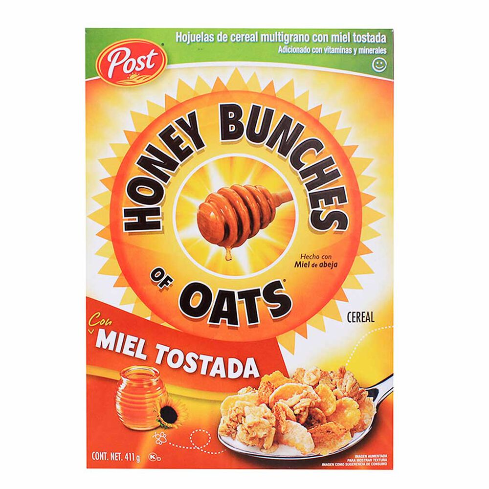 Cereal Honey Bunches Post 411 Gramo Caja image number 0