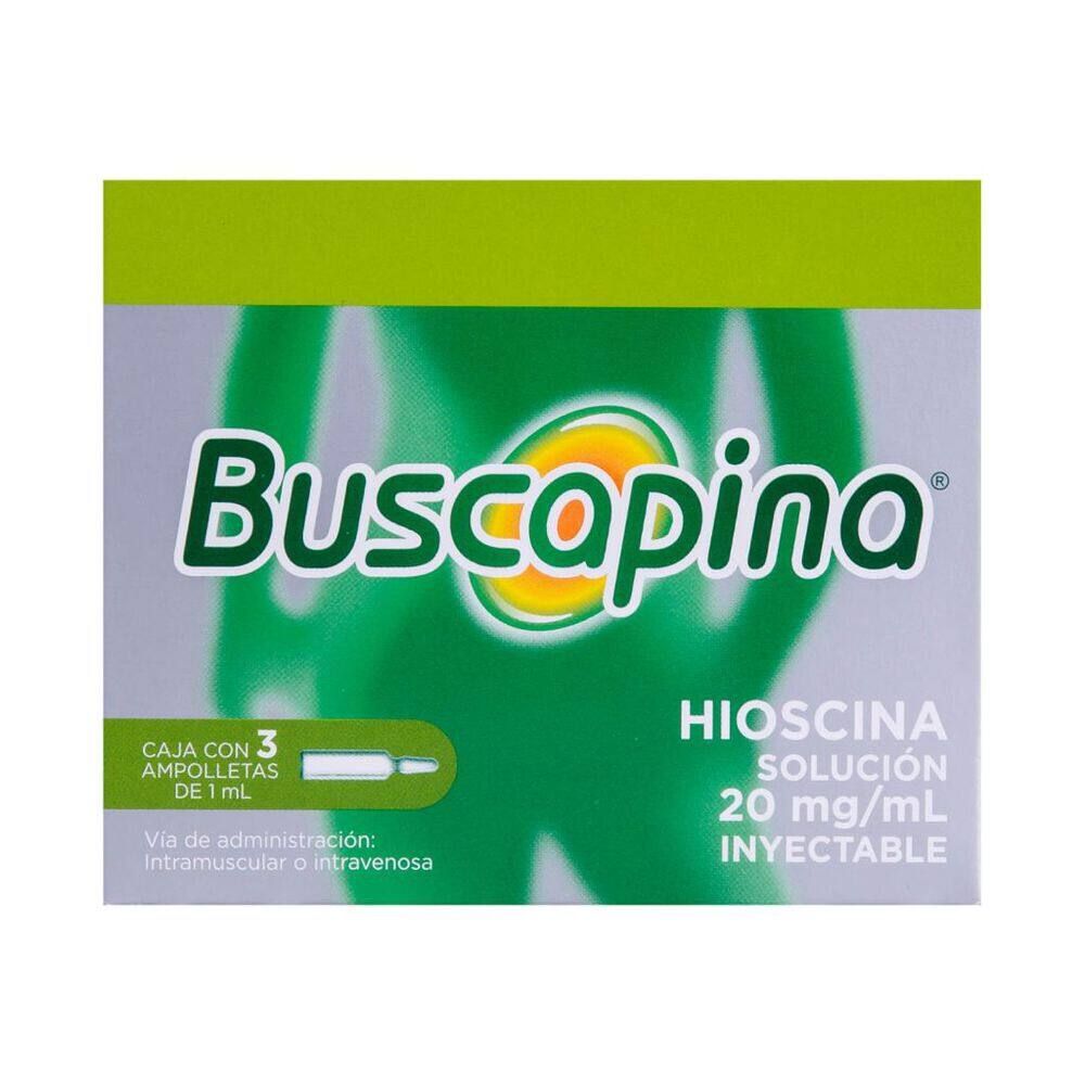 Buscapina 20mg Sol Iny con 3pzas image number 0