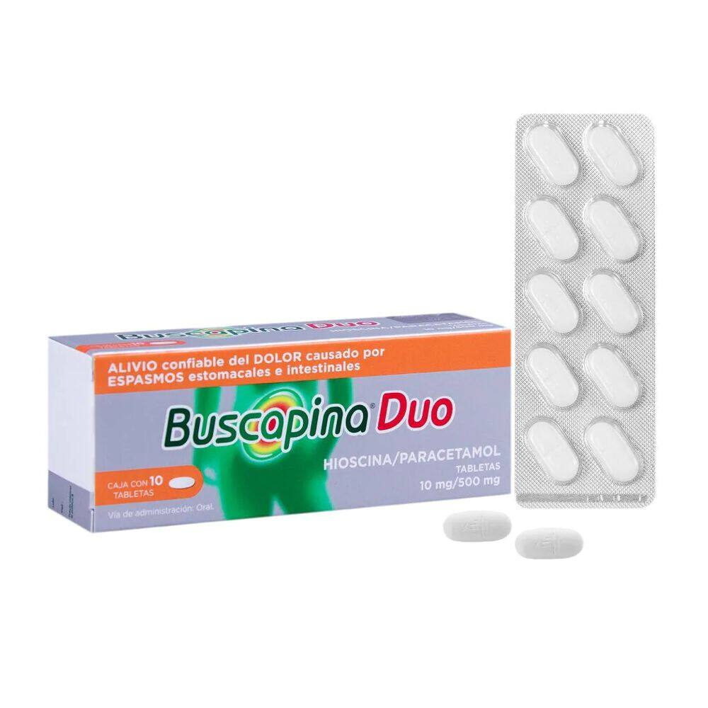Buscapina Duo 10/500 mg Tab con 10 Pzas image number 3