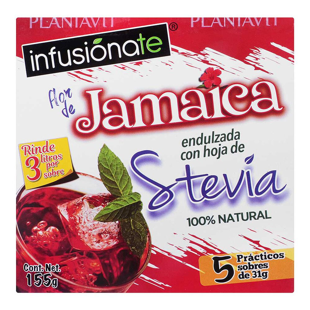 Jamaica con Stevia Infusiónate 155 g image number 0