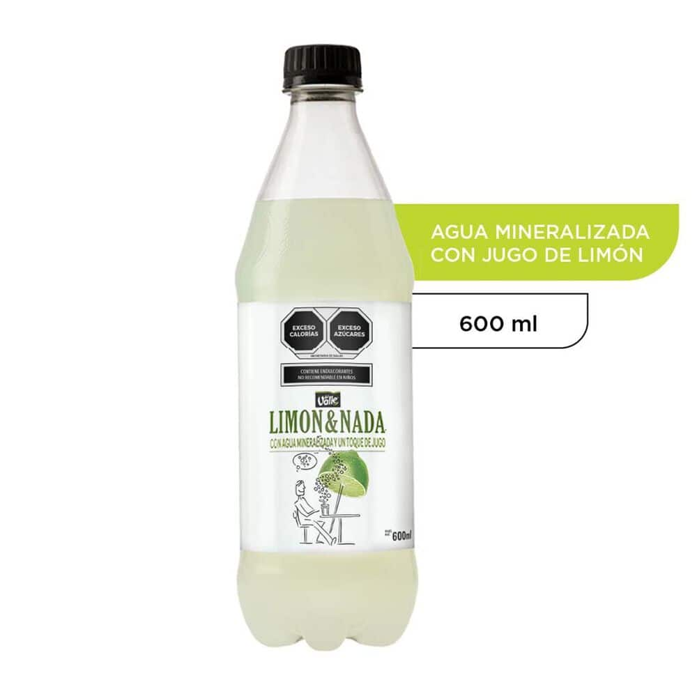 Agua Mineral Del Valle Limón 600 Ml image number 0