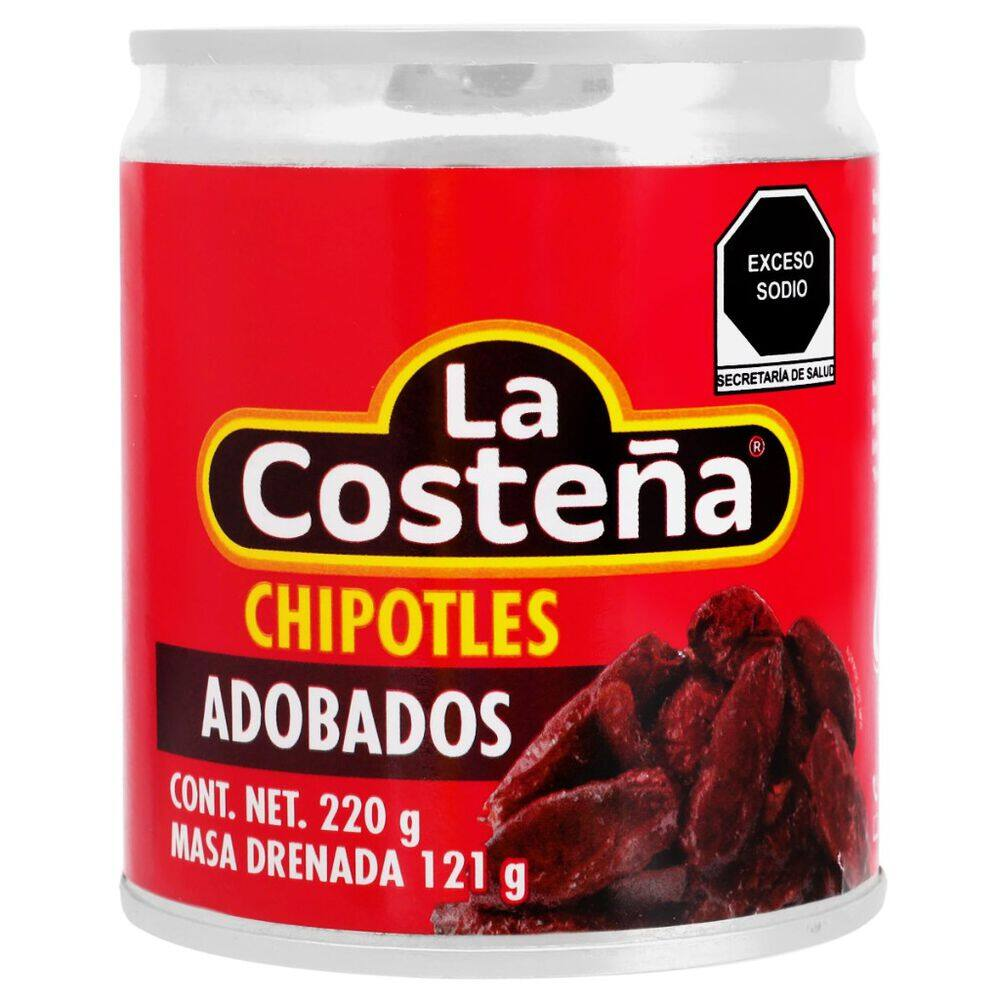Chile Costeña Chipo Ent Adobad Lat 220gr image number 0